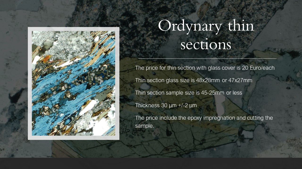 ordynary thin section 20 Euro