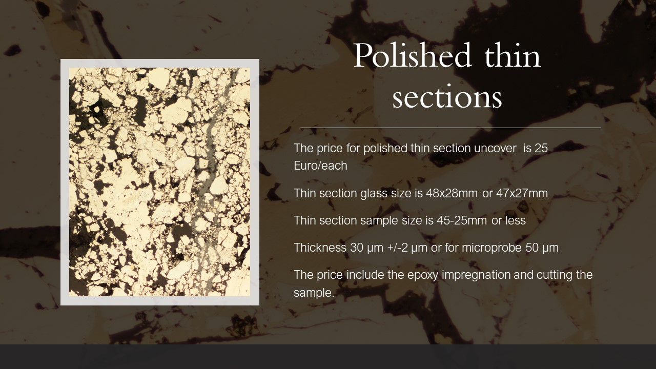 polished thin section 25 euro